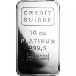 10 Oz Credit Suisse Platinum Bar