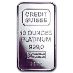 10 Oz platinum Bar-Secondary Market