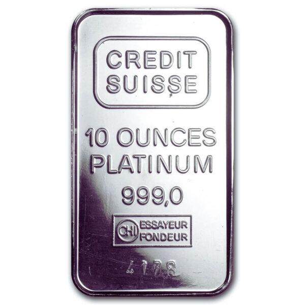 10 Oz platinum Bar-Secondary Market
