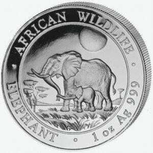 2011 Somalia 1 oz Elephant Silver Coin