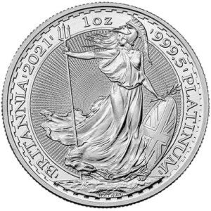 2021 1 Oz Platinum British Britannia Coin