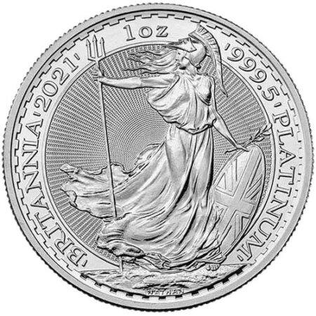 2021 1 Oz Platinum British Britannia Coin