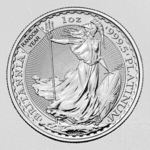 Great Britain 1 oz Platinum Britannia (Random Year) Coin