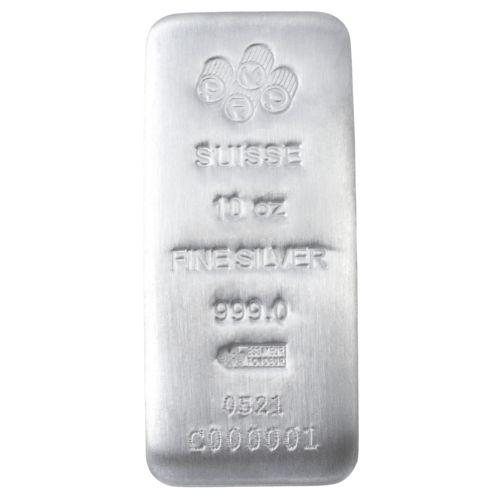 10 oz PAMP Suisse Silver Bar Cast