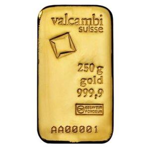Valcambi 250 gram gold bar