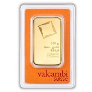 Valcambi 100 Gram Gold Bar