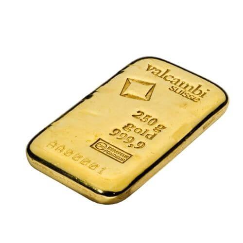 250 gram gold bar valcambi