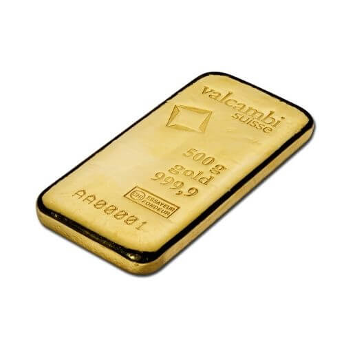 Valcambi 500 Gram Gold Bar