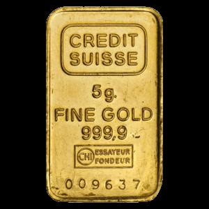 5 gram gold bar - Secondary Market